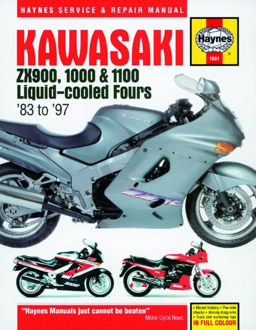 Manual Haynes for 2000 Kawasaki ZZR 1100 ZX1100D8