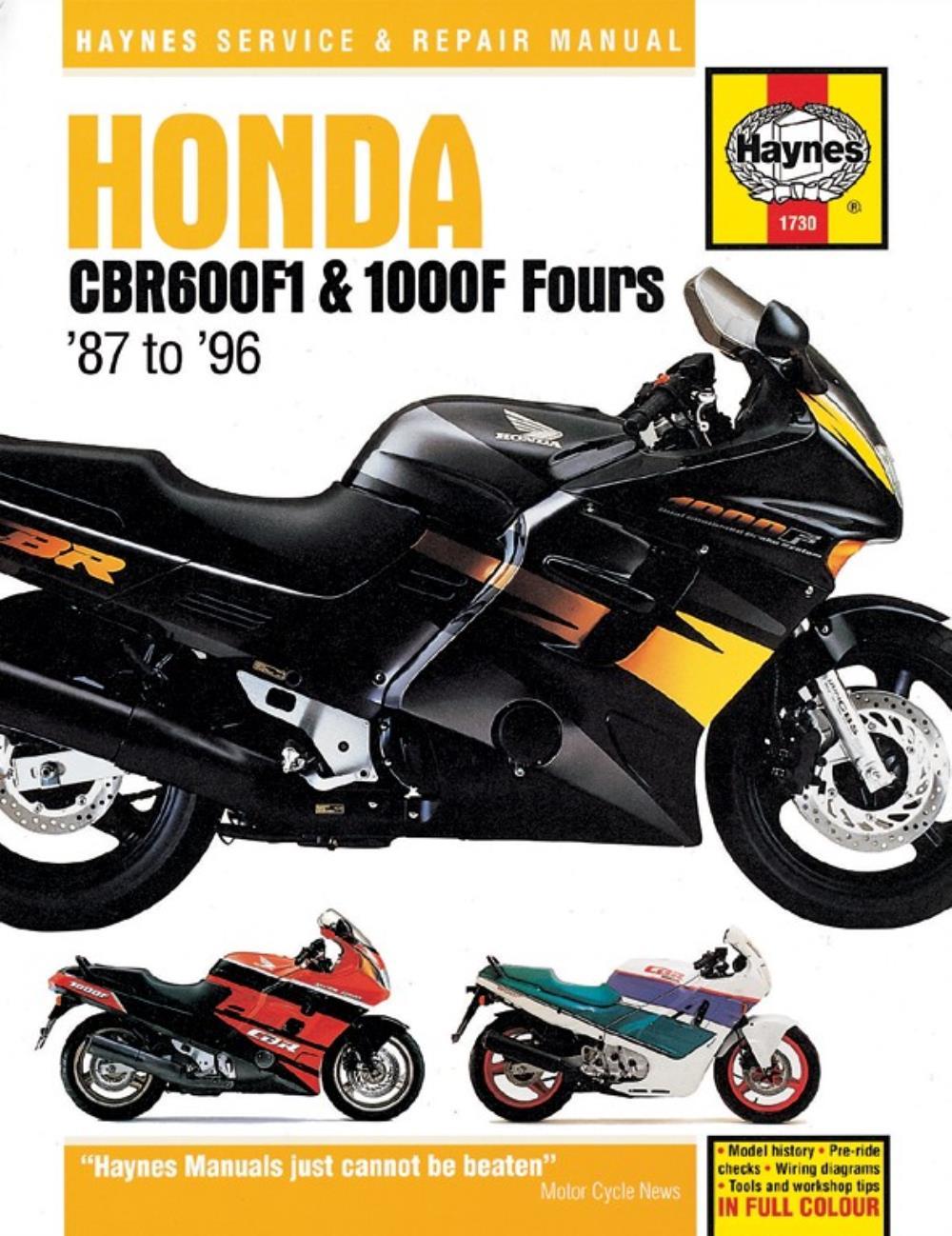-L Manual Haynes for 1990 Honda CBR 600 F 1