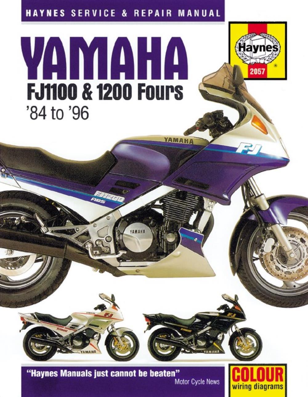 1TX Manual Haynes for 1987 Yamaha FJ 1200 Vehicle Parts ...