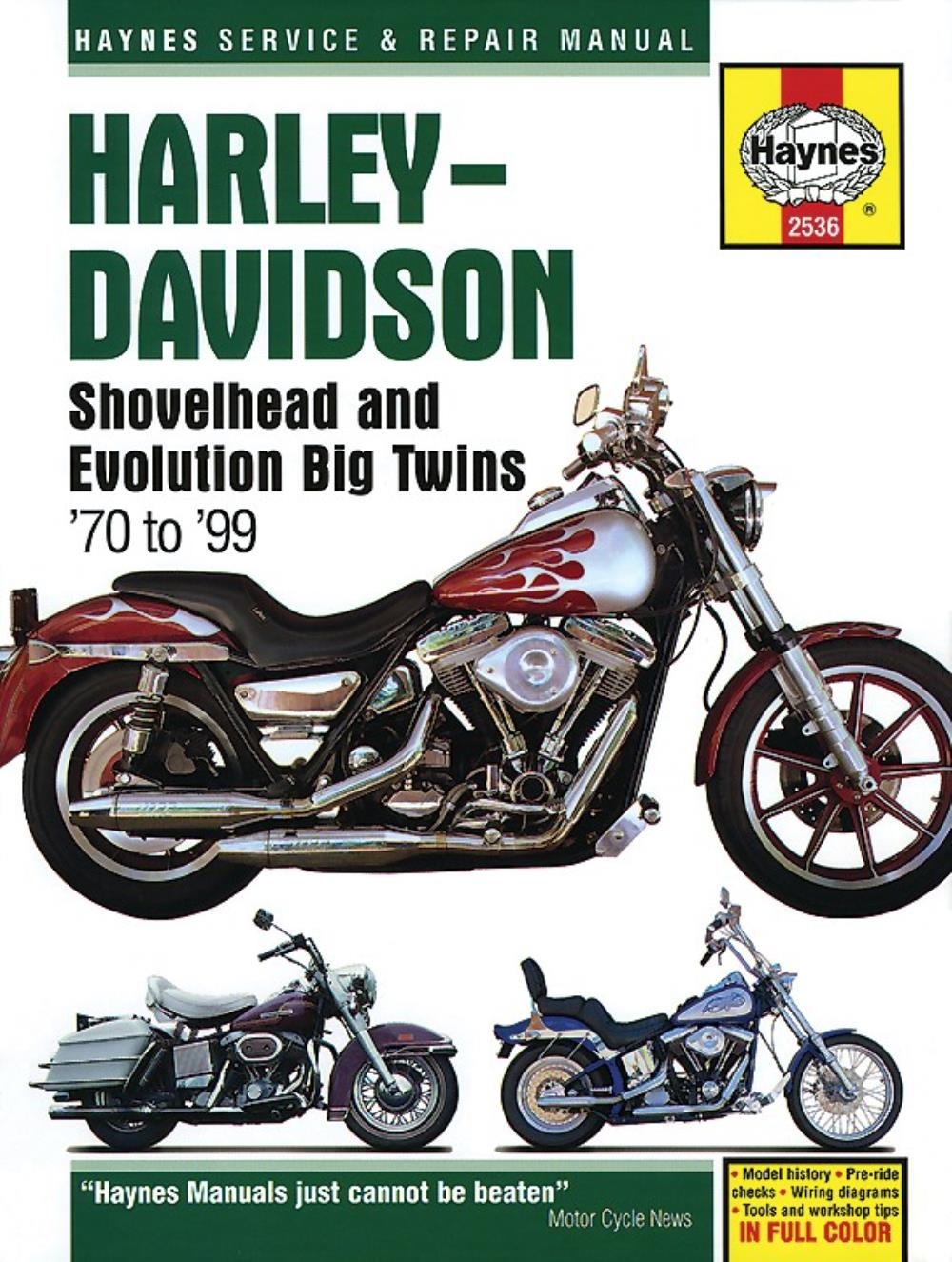 Manual Haynes for 1988 H//Davidson FLTC 1340 Tour Glide Classic