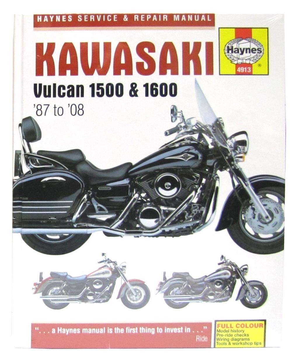 manual haynes for 2007 kawasaki vn 1600 a6f classic ebay. Black Bedroom Furniture Sets. Home Design Ideas