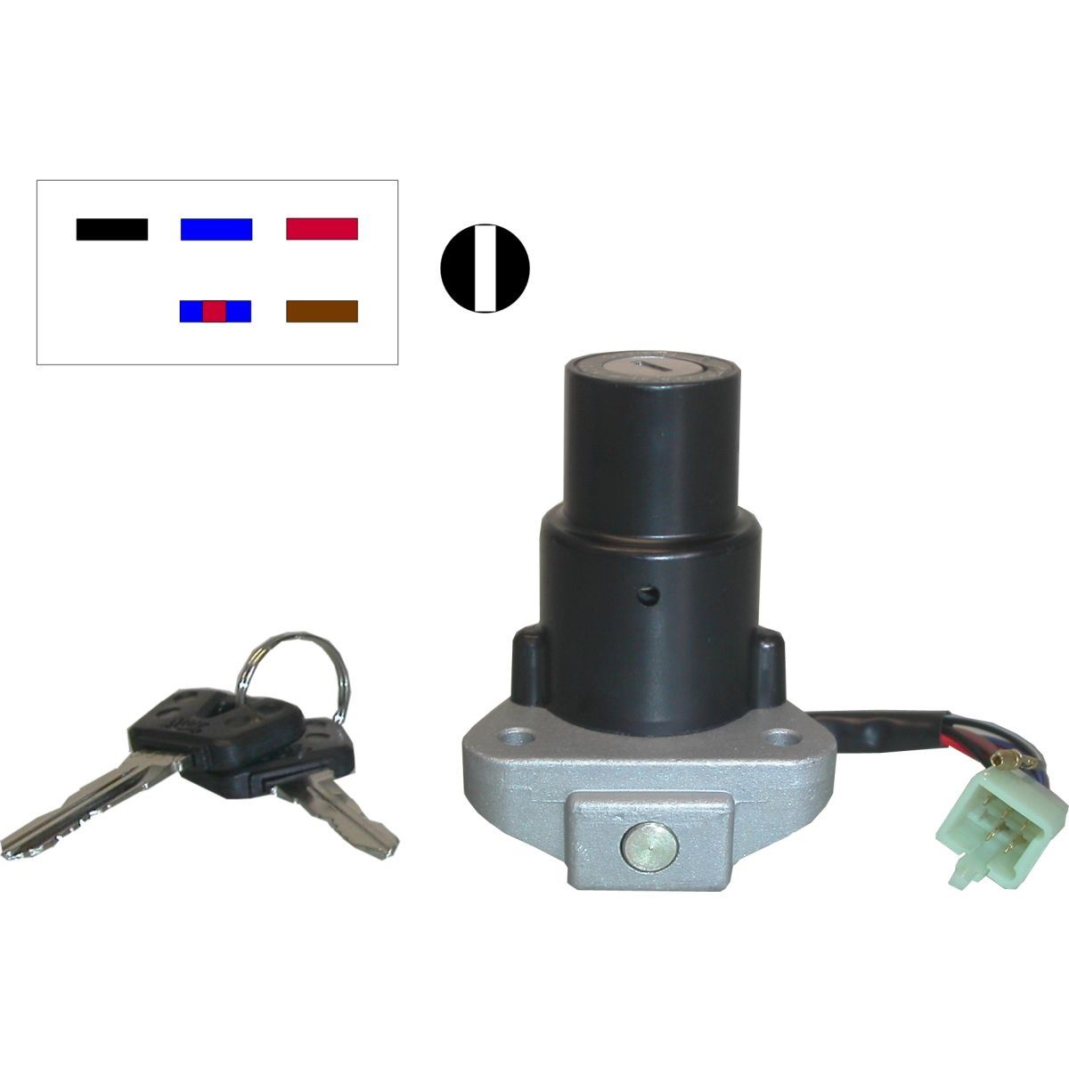 2HK Ignition Switch for 1986 Yamaha RD 125 LC Mk 2