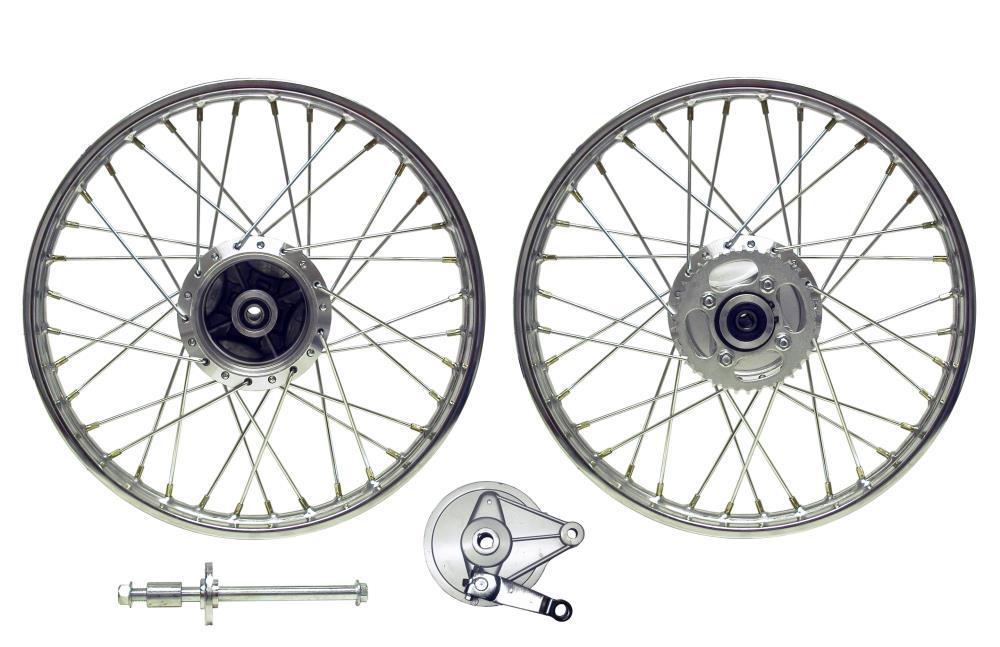 Rear Wheel CG125 04-08 drum with brake plate Rim 1.40 x 18