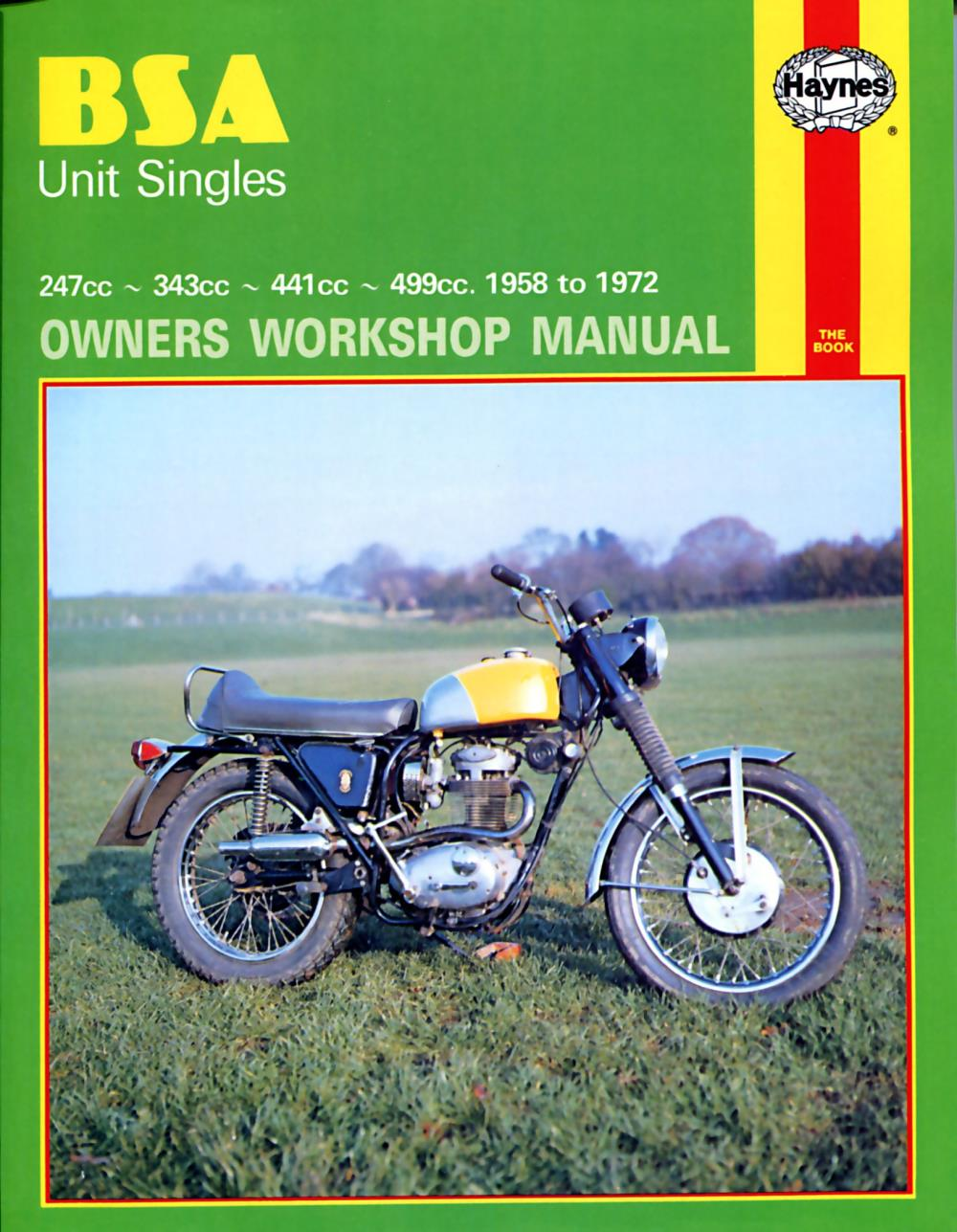 Haynes Manual 127 BSA UNIT SINGLES