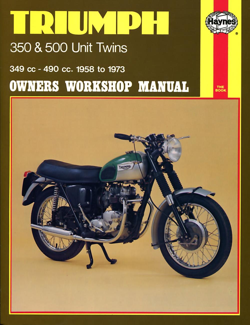 Manual Haynes for 1968 Triumph Tiger 90 (T90) (348cc)