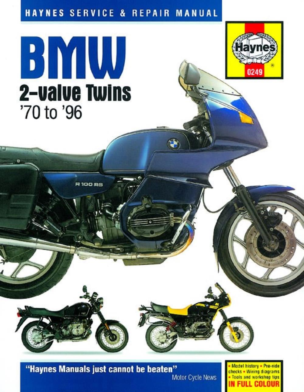 Manual Haynes For 1988 Bmw R 80 Gs Ebay 1150 Electrical Circuit Diagrams Image Is Loading