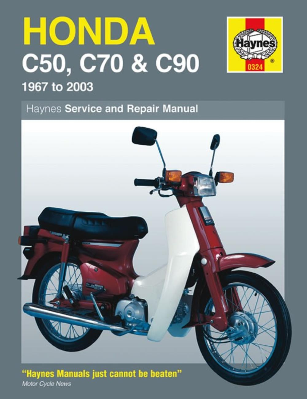 Workshop Manual Honda C50 1967-1985, C70 1972-1986, C90 1967-