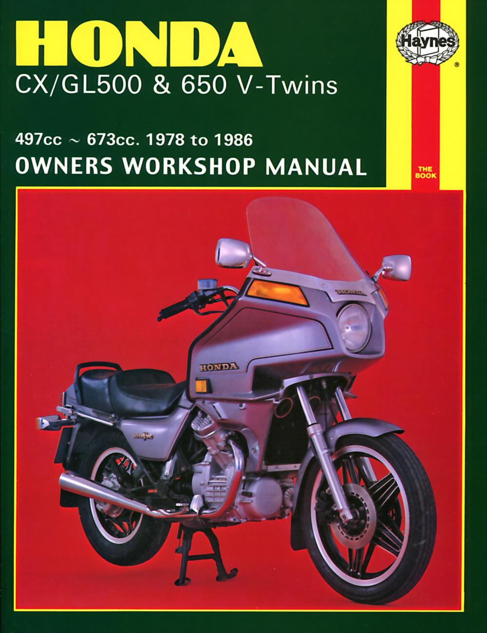 Honda Cx500 Turbo Parts For Sale: Manual Haynes For 1983 Honda CX 650 ED Eurosport