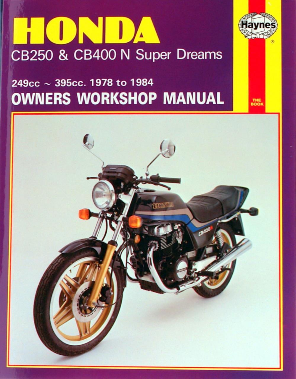 manual haynes for 1981 honda cb 250 ndb super dream ebay. Black Bedroom Furniture Sets. Home Design Ideas