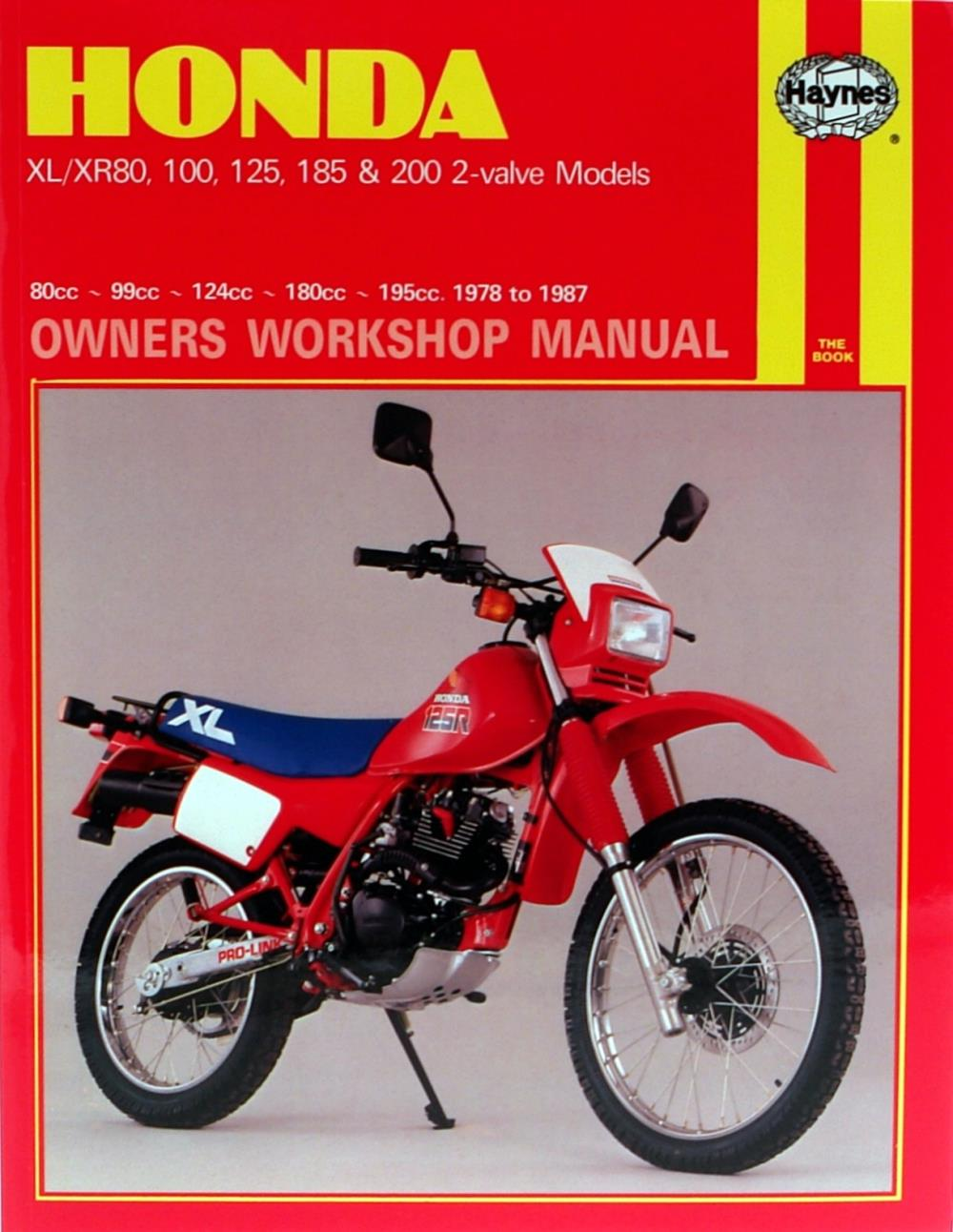 manual haynes for 1987 honda xr 200 r usa import ebay rh ebay co uk honda xr200 service manual free honda xr200r service manual