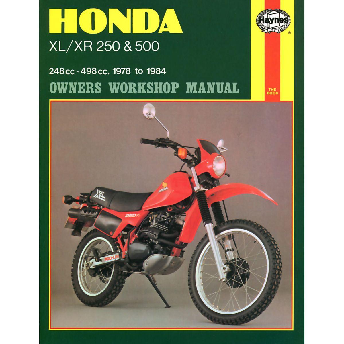 Manual Haynes for 1980 Honda XL 250 SA