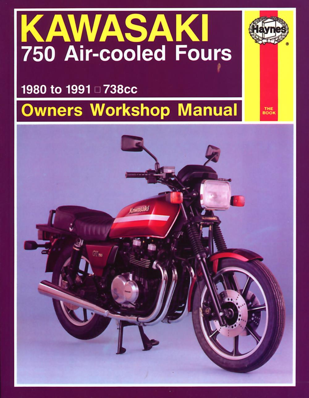 Image is loading Manual-Haynes-for-1980-Kawasaki-K-Z-750-H1-