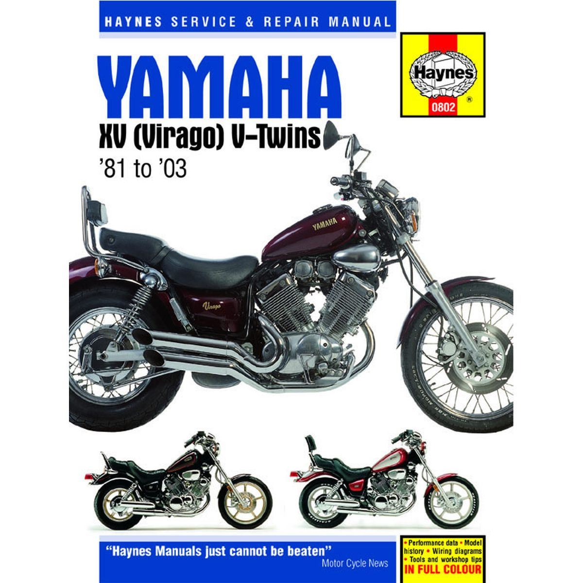 Details about Manual Haynes for 1991 Yamaha XV 1100 Virago (3LP2) on