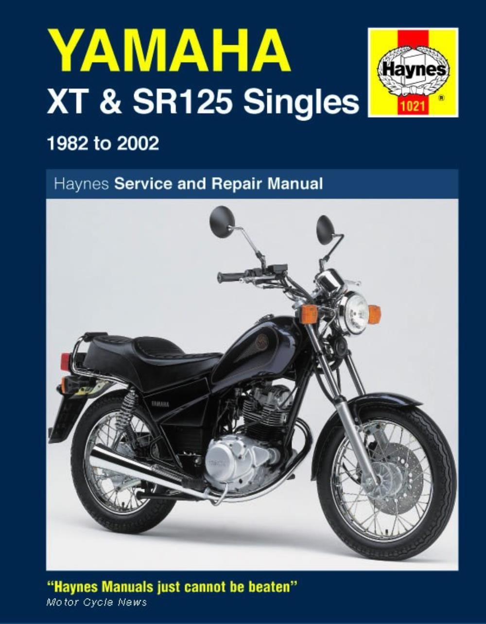 Manual Haynes for 1982 Yamaha XT 125 J eBay