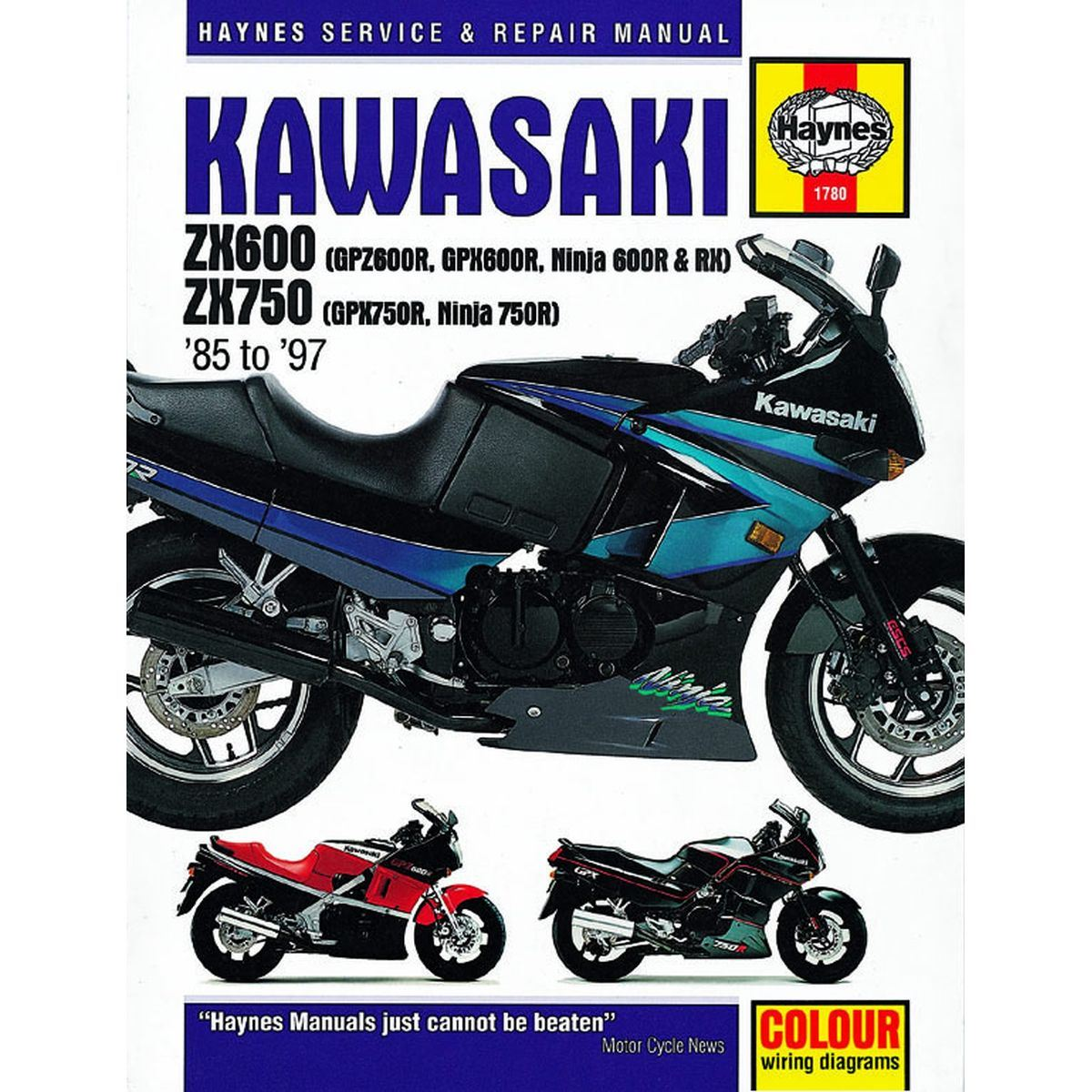 Manual Haynes For 1988 Kawasaki Gpx 750 R Zx750f2a Ebay Motorcycle Wiring Diagram Image Is Loading