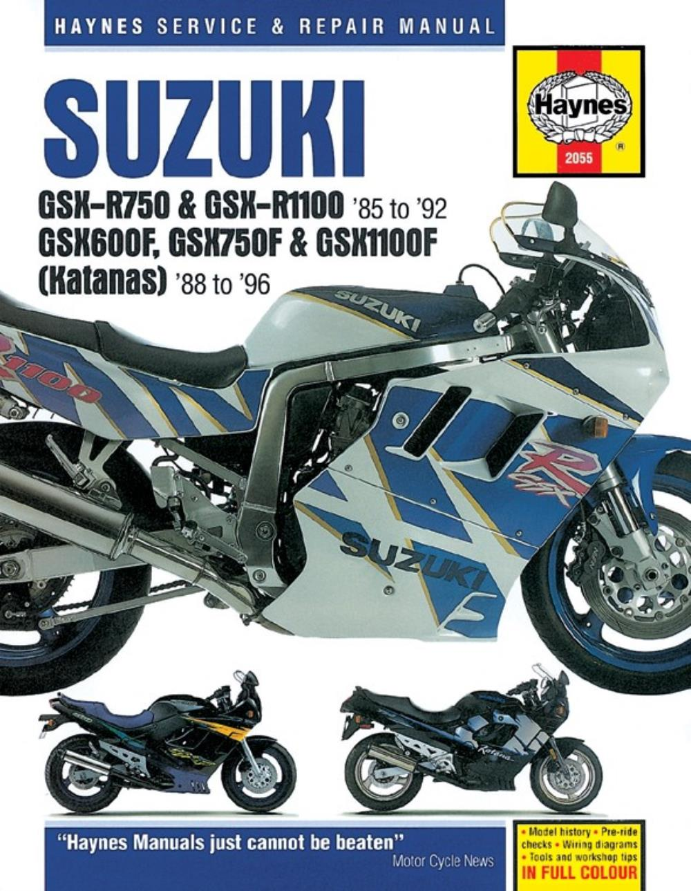manual haynes for 1988 suzuki gsx 1100 fj gv72a ebay rh ebay co uk