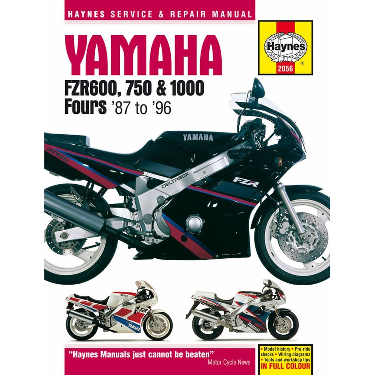 Manual Haynes For 1989 Yamaha Fzr 1000 R Exup 3lg1 Twin 89 Virago Wiring Diagram Image Is Loading