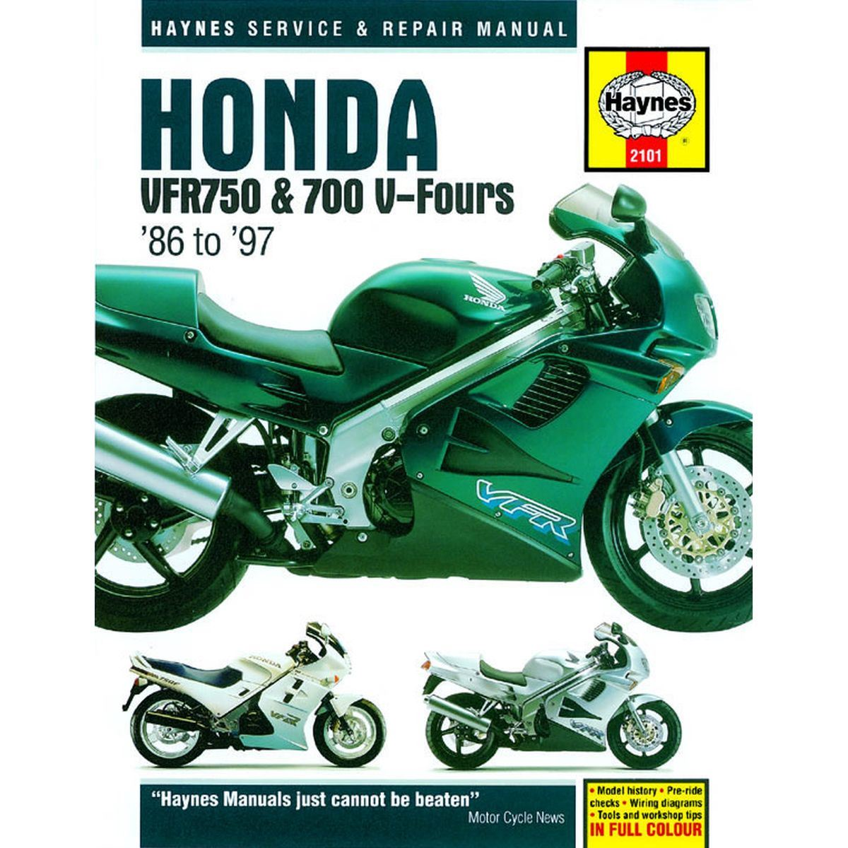 haynes manual for honda vfr750 700 v fours 86 to 97 ebay rh ebay co uk