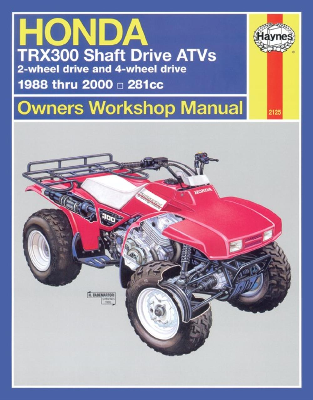 Image is loading Manual-Haynes-for-1996-Honda-TRX-300-T
