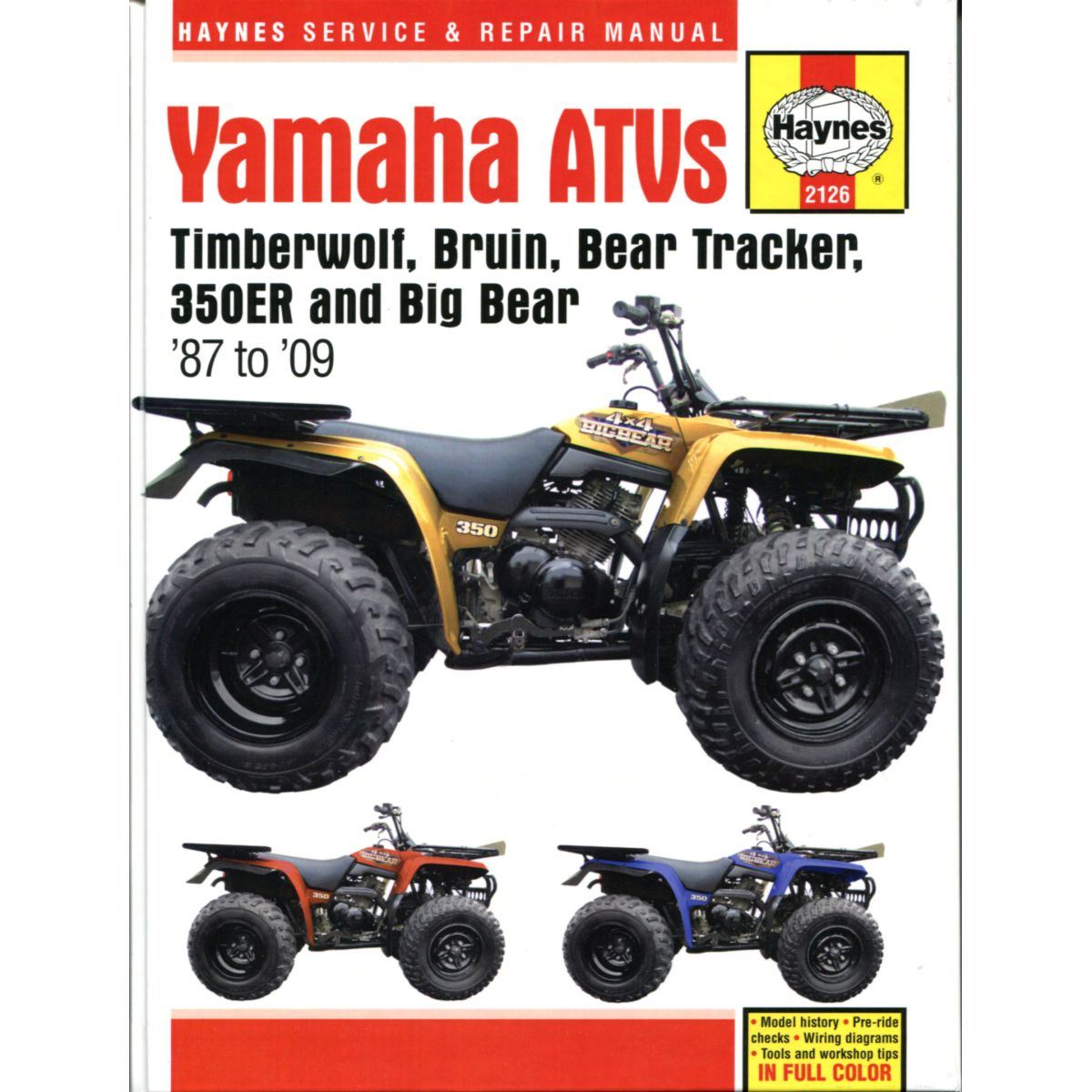 Manual Haynes For 1999 Yamaha Yfm 250 Xl Bear Tracker