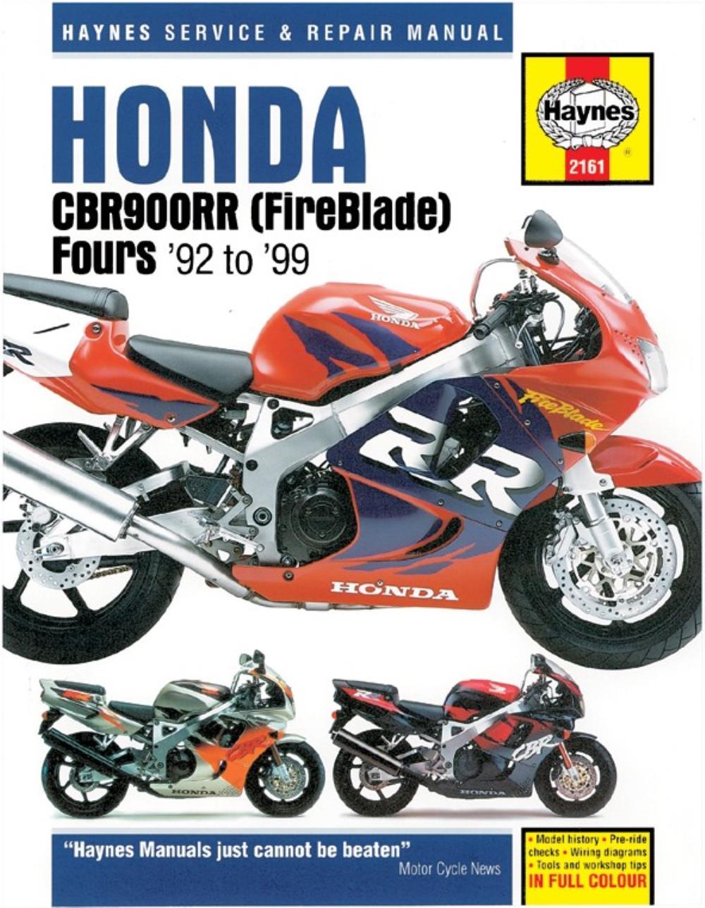 manual haynes for 1997 honda cbr 900 rrv fireblade sc33 918cc ebay rh ebay co uk honda cbr 919 rr fireblade manual honda cbr 900 rr fireblade 1999 manual