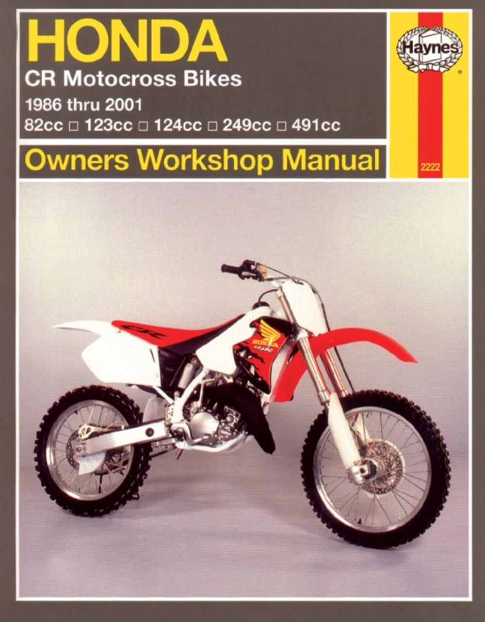 Image is loading Manual-Haynes-for-1997-Honda-CR-125-RV