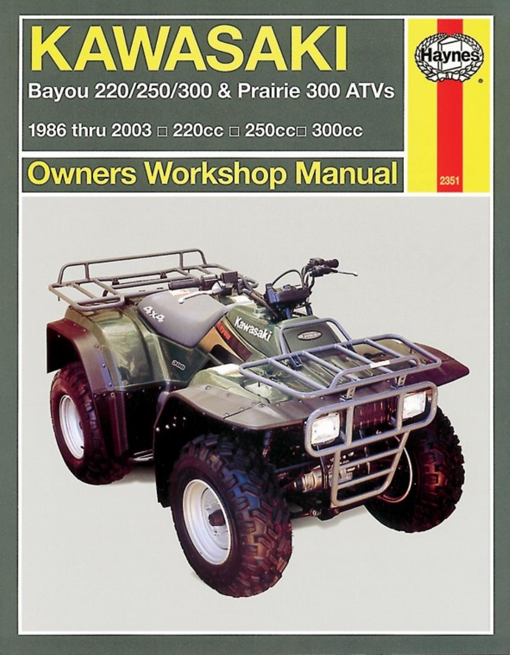 Manual Haynes for 1990 Kawasaki KLF 300 C2 Bayou
