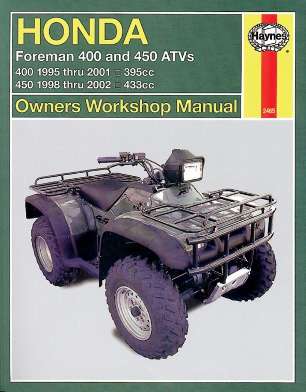 Image is loading Manual-Haynes-for-1999-Honda-TRX-400-FWX