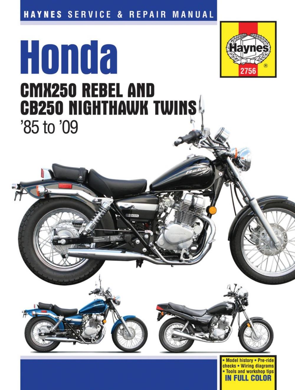 2005 Honda Rebel Wiring Diagram Cb250 Harness Manual Haynes For Cmx 250 C5 Ebay Rh Co Uk 1976 Motorcycle Schematics