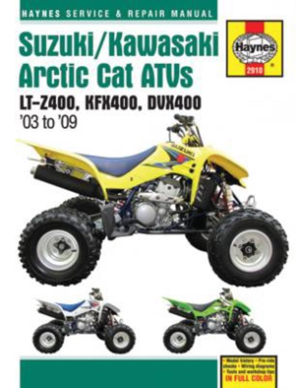 Workshop Manual Suzuki LTZ400 03-09, Kawasaki KFX400 03-06