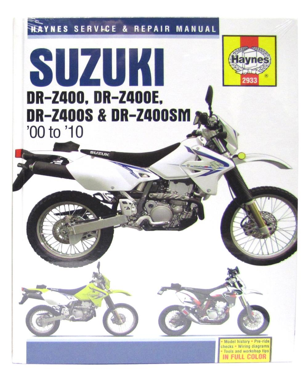 image is loading manual-haynes-for-2009-suzuki-dr-z-400-