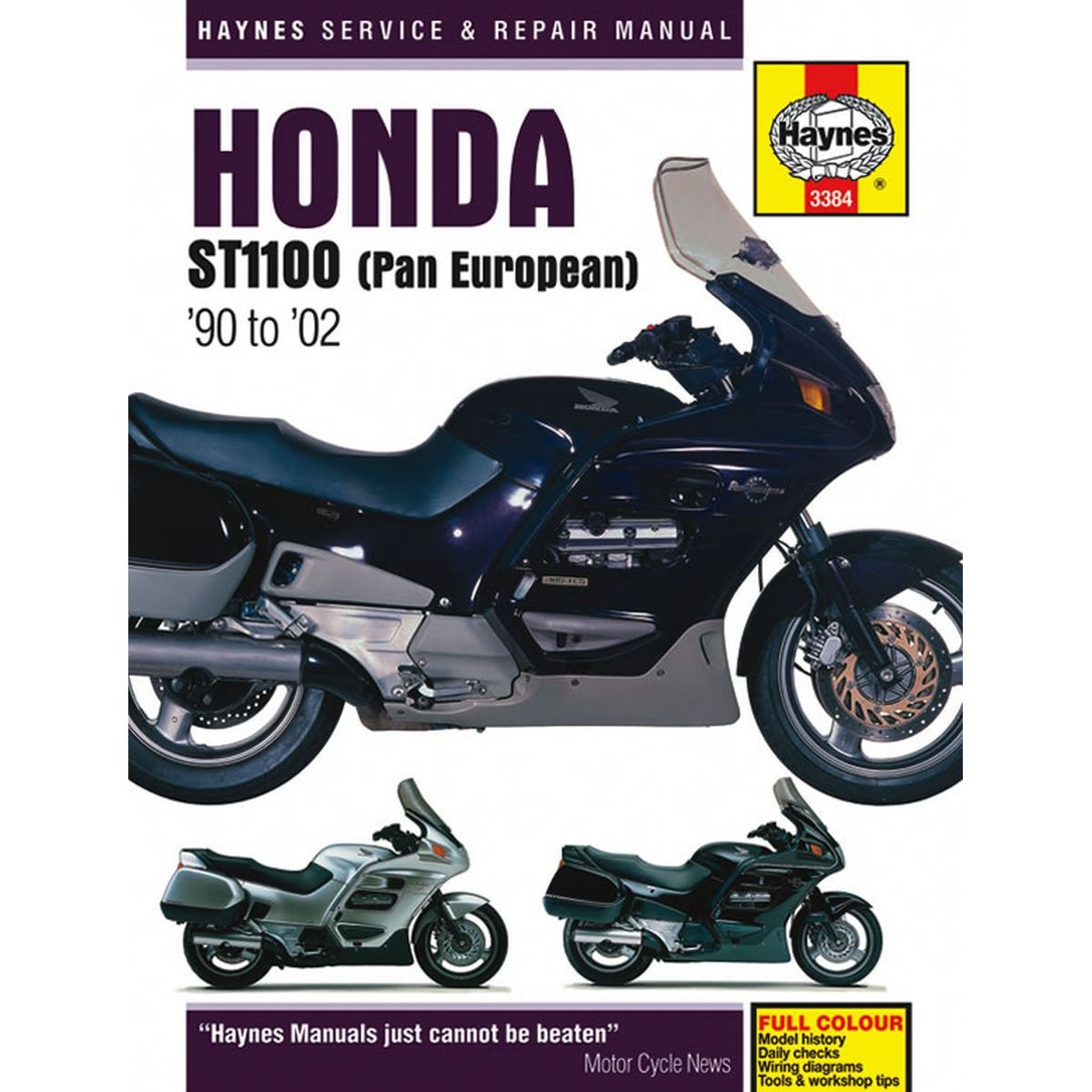 manual haynes for 1993 honda st 1100 ap pan european abs. Black Bedroom Furniture Sets. Home Design Ideas