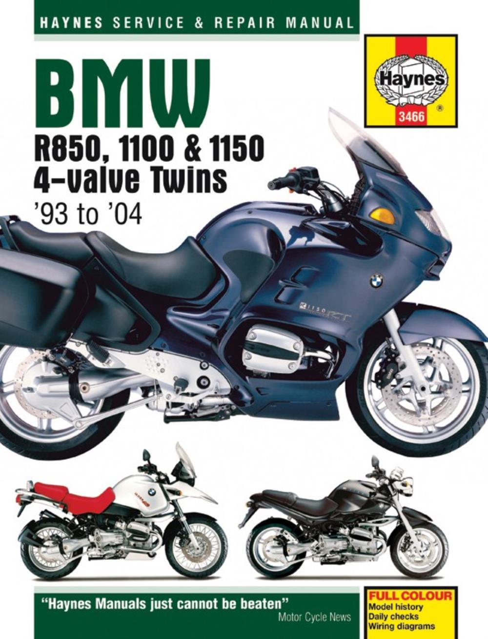 Manual Haynes For 2001 Bmw R 1150 Rt Ebay Wiring Diagrams
