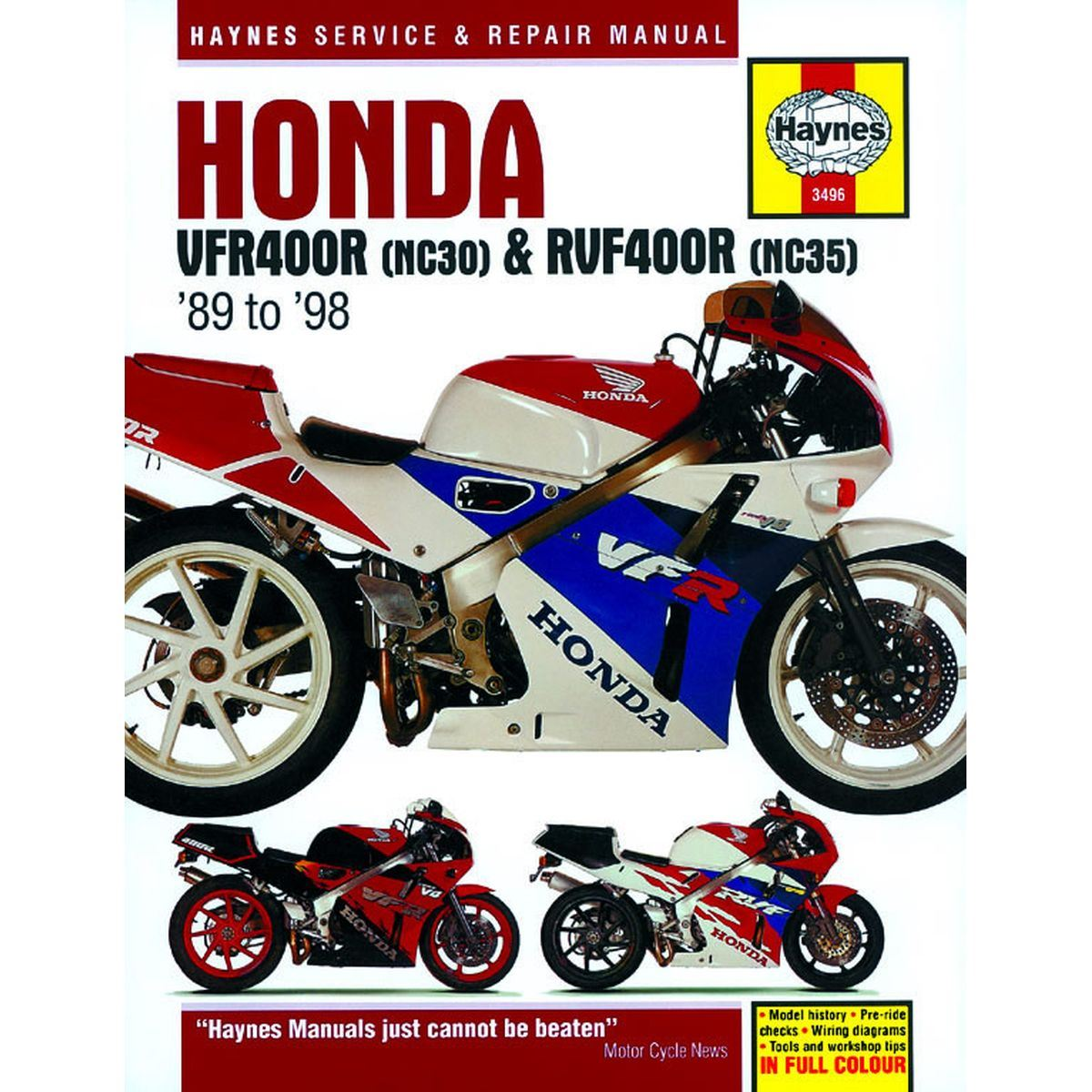 Manual Haynes For 1989 Honda Vfr 400 R3k Nc30 Ebay 89 Wiring Diagram Image Is Loading