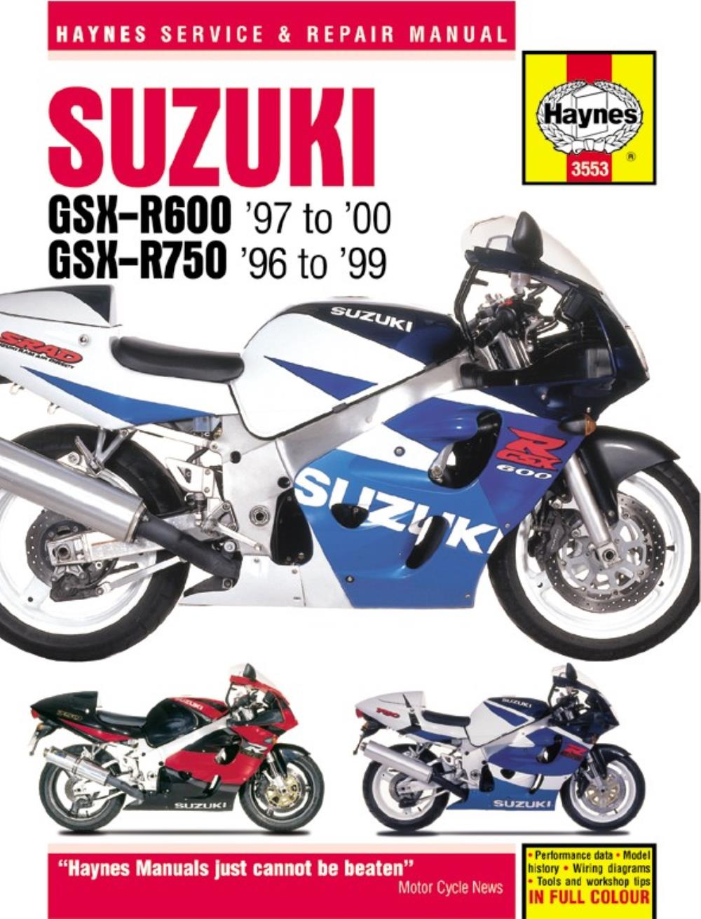 Manual Haynes for 1996 Suzuki GSX-R 750 T (SRAD) (L/C) | eBay