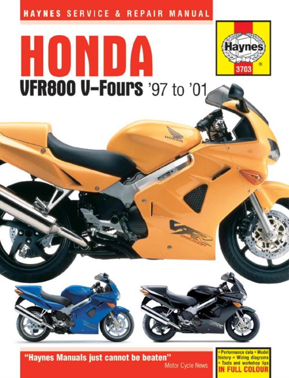 Image is loading Manual-Haynes-for-2001-Honda-VFR-800-Fi-