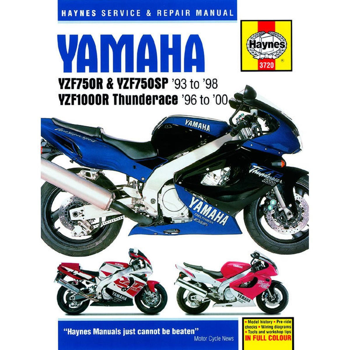 Image is loading Manual-Haynes-for-1994-Yamaha-YZF-750-R-