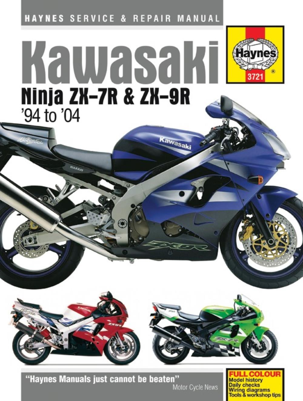 2000 Zx6r J1 Manual Various Owner Guide 03 Kawasaki 636 Wiring Diagram Haynes For Zx 9r Zx900e1 Ebay Rh Co Uk 2001 2003