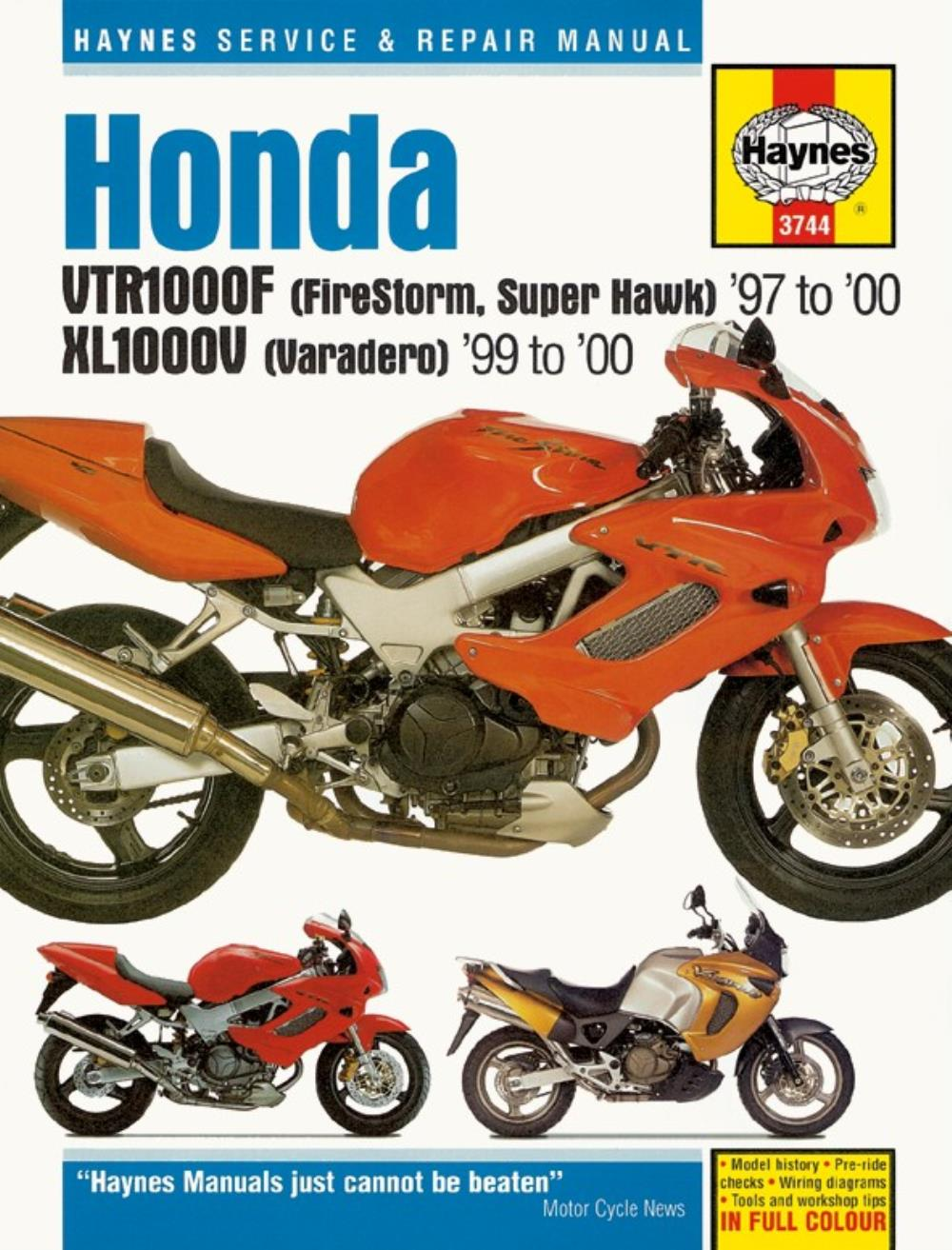 workshop manual honda vtr1000f 1997 2000 xl1000v varadero 1999 2008 rh ebay co uk VTR1000F Engine Honda VTR1000 Superhawk