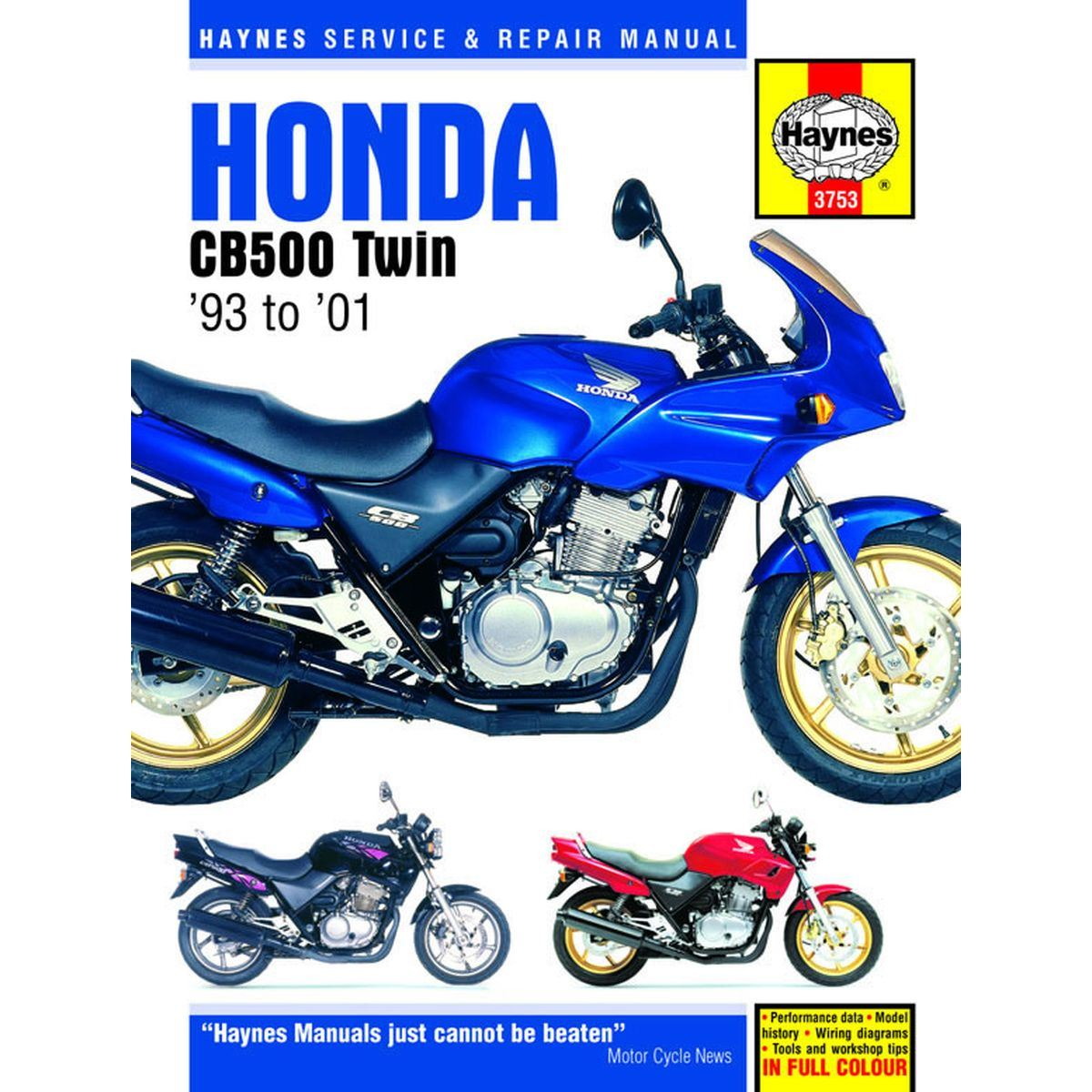 Image is loading Manual-Haynes-for-2000-Honda-CB-500-SY-