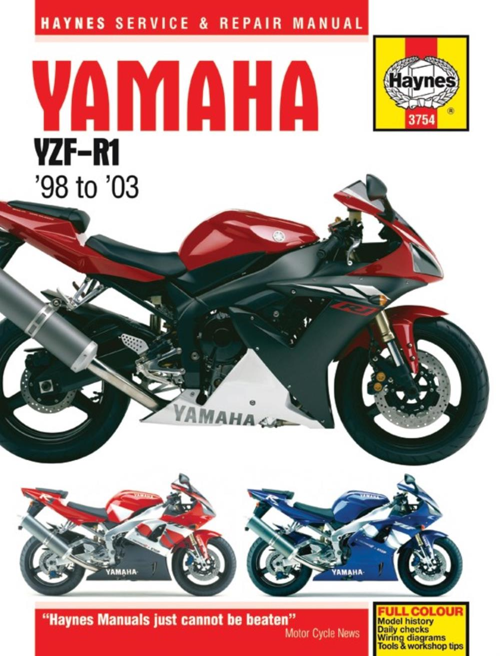 image is loading manual-haynes-for-1999-yamaha-yzf-r1-1000cc-