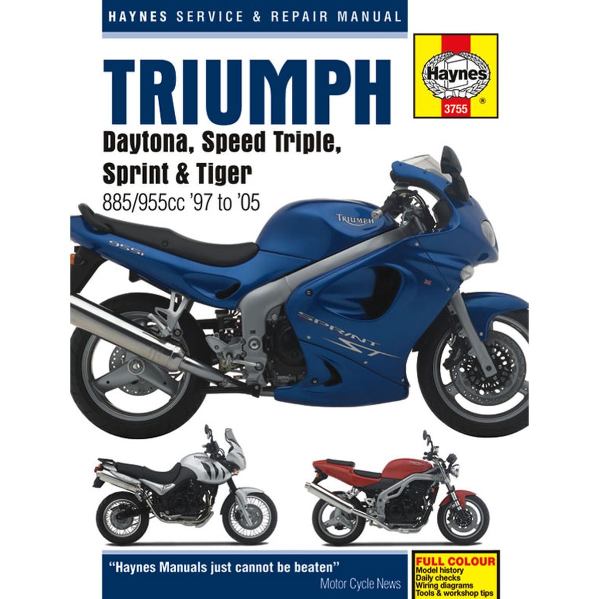 manual haynes for 2001 triumph speed triple 955i efi ebay rh ebay co uk  triumph 955i 2001 wiring diagram