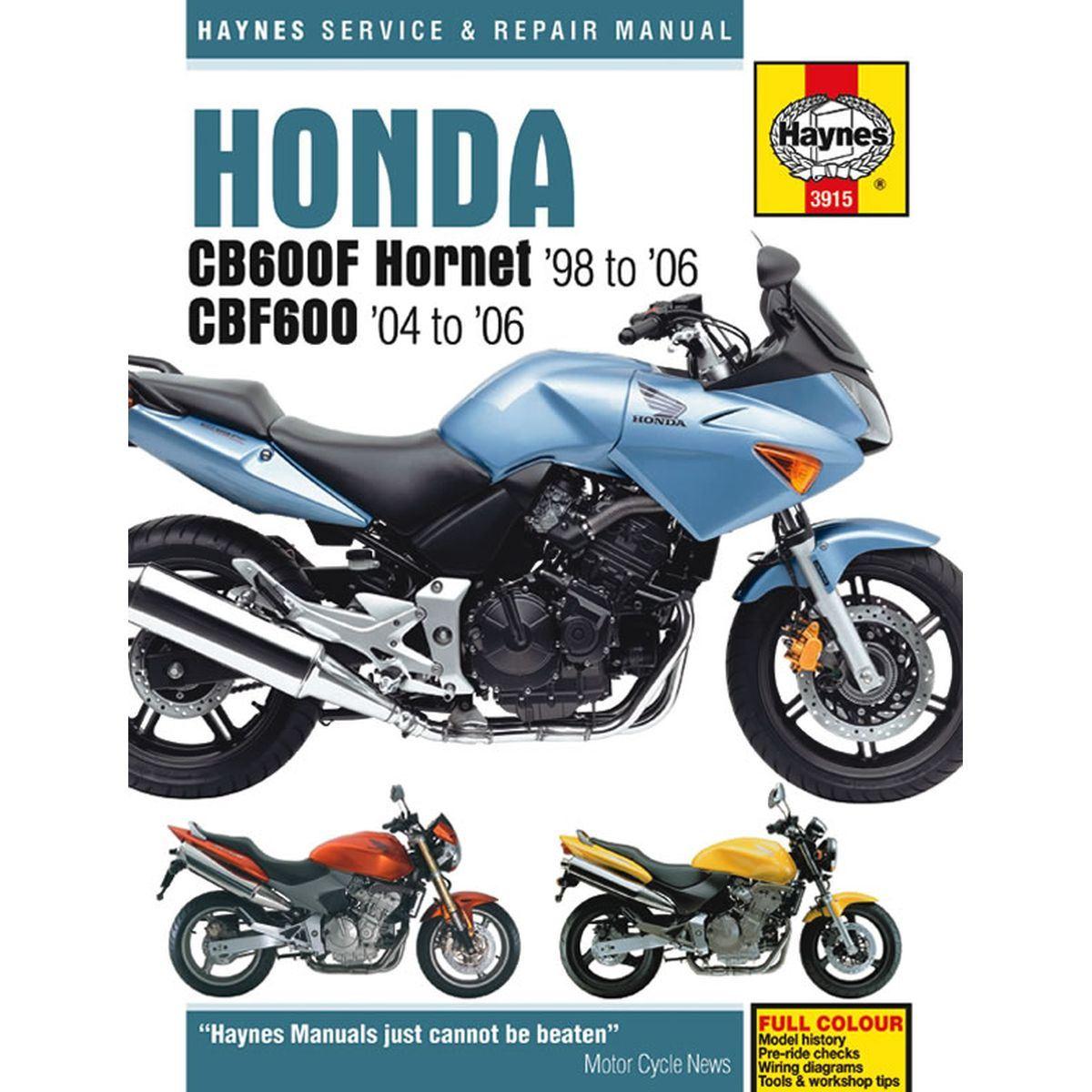 Cool Manual Haynes For 1999 Honda Cb 600 Fx Hornet Ebay Wiring 101 Cranwise Assnl
