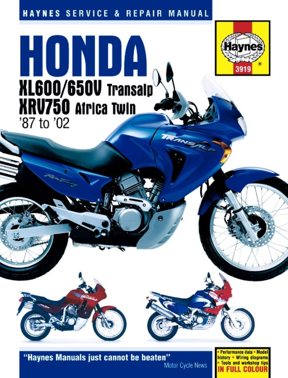manual haynes for 1995 honda xrv 750 s africa twin rd07 ebay rh ebay co uk honda xrv 750 africa twin manual pdf Craigslist Honda Africa Twin