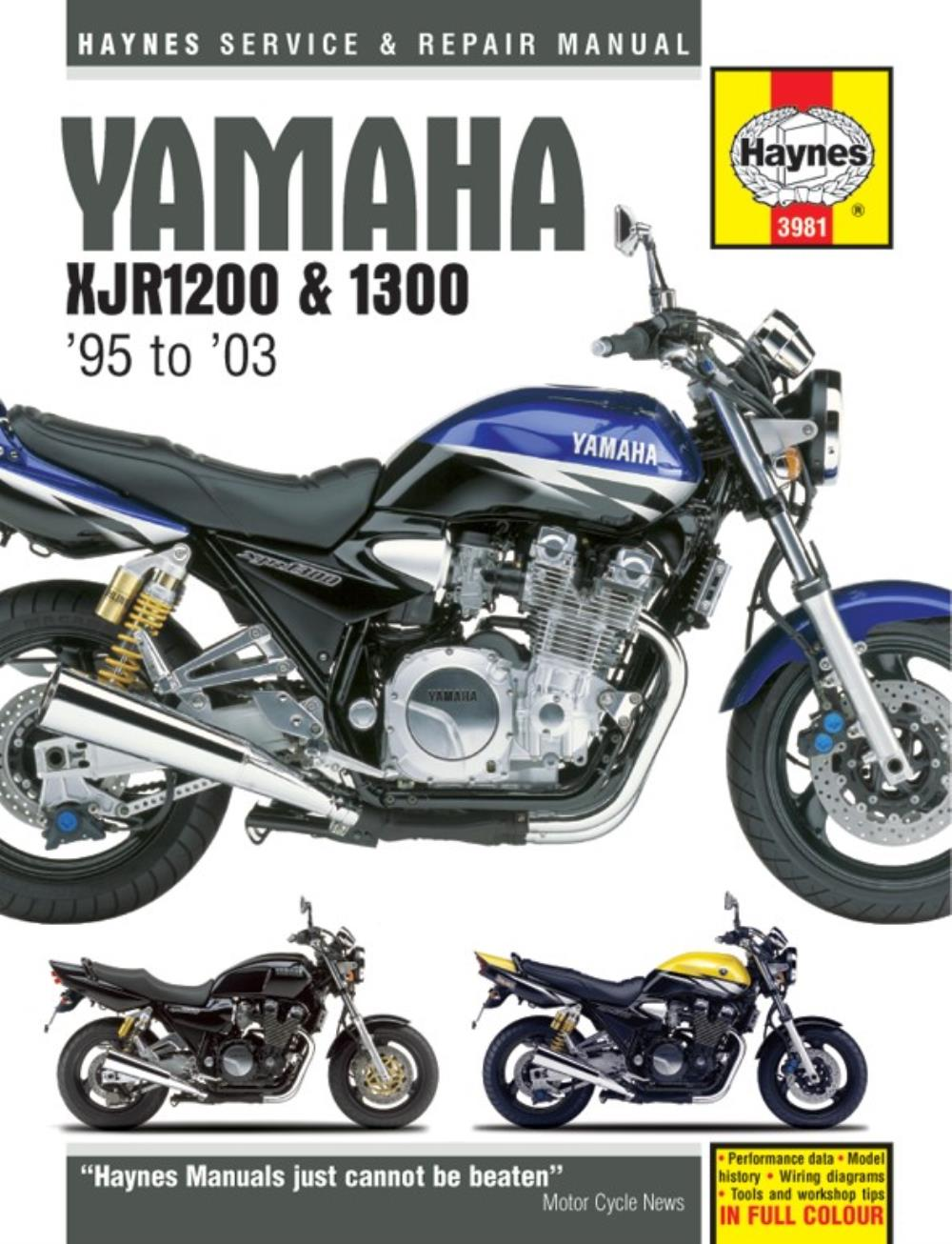 Manual Haynes for 2005 Yamaha XJR 1300 T (5WMC) (Australia Model)