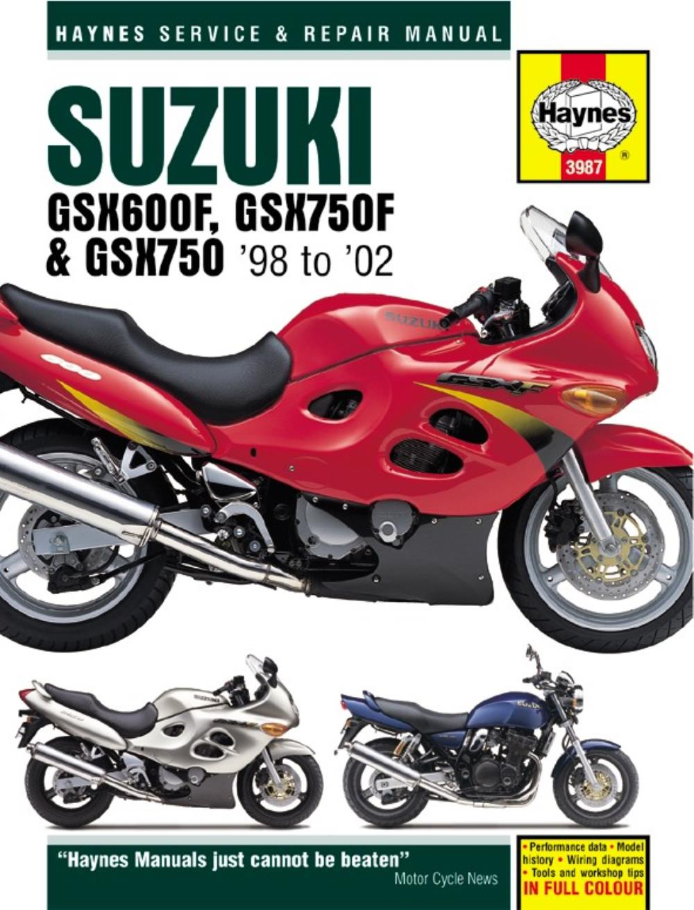manual haynes for 2002 suzuki gsx 750 f k2 fully faired ebay rh ebay co uk  suzuki gsx750f manual free suzuki gsx 750 f manual download