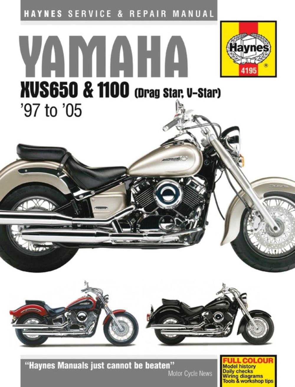 Haynes Manual 4195 Yamaha Xvs650 1100 Drag Star 97 05 Ebay Wiring Diagram Image Is Loading Amp