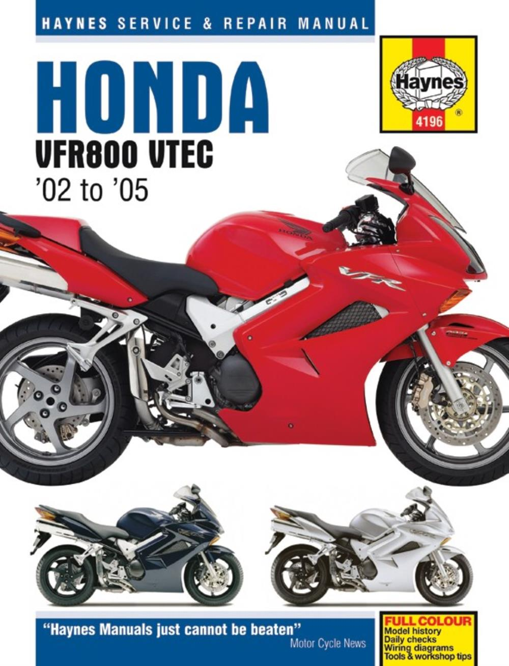 Manual Haynes for 2009 Honda VFR 800 A9 VTEC (ABS) (RC46) | eBay on 2009 honda rancher wiring diagram, 2009 honda shadow wiring diagram, 2009 honda big red accessories, 2009 honda goldwing wiring diagram, 2009 honda big red parts, 2009 honda rubicon wiring diagram,