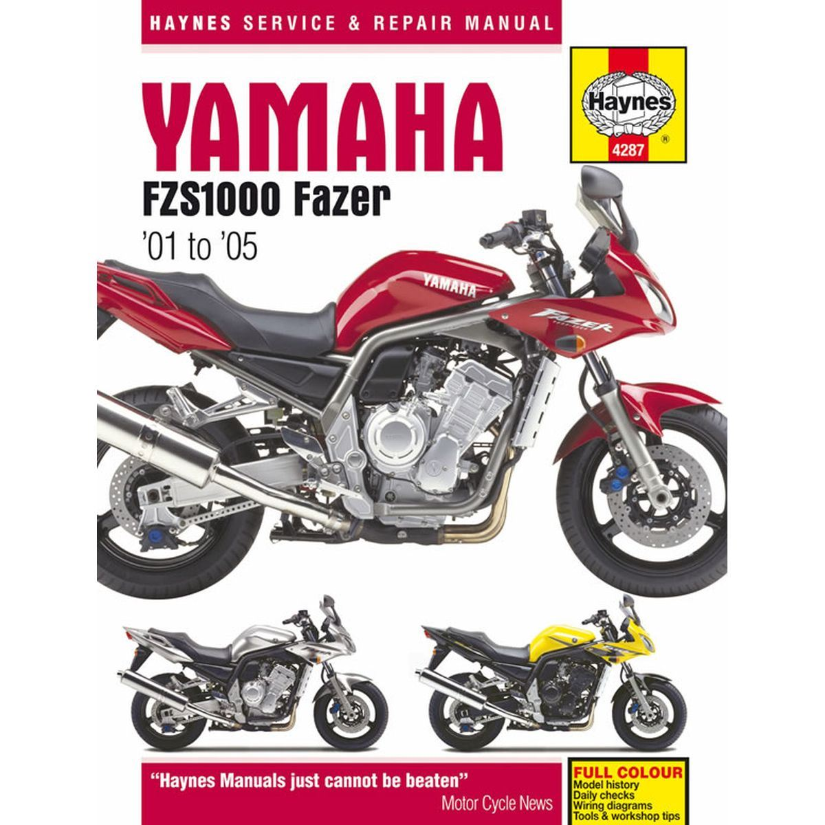 Image is loading Workshop-Manual-Yamaha-FZS1000-FZS1000S-Fazer-2001-2005