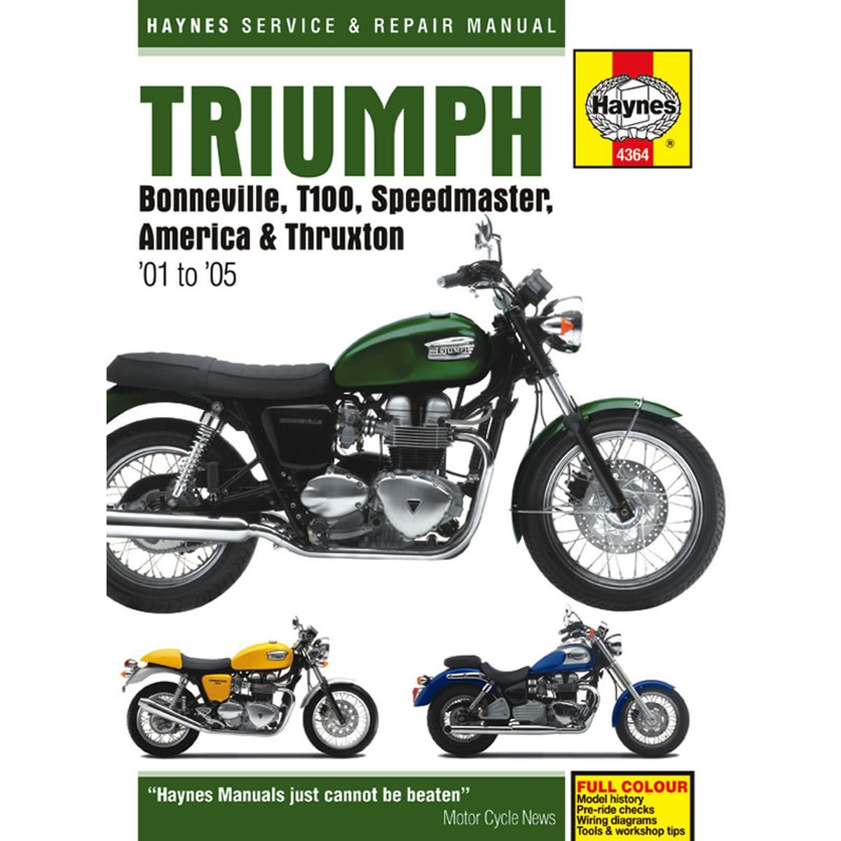 Manual Haynes For 2010 Triumph Bonneville T100 865cc Efi Ebay